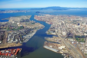 """""""Oakland California aerial view"""" by Robert Campbell - U.S. Army Corps of Engineers"""